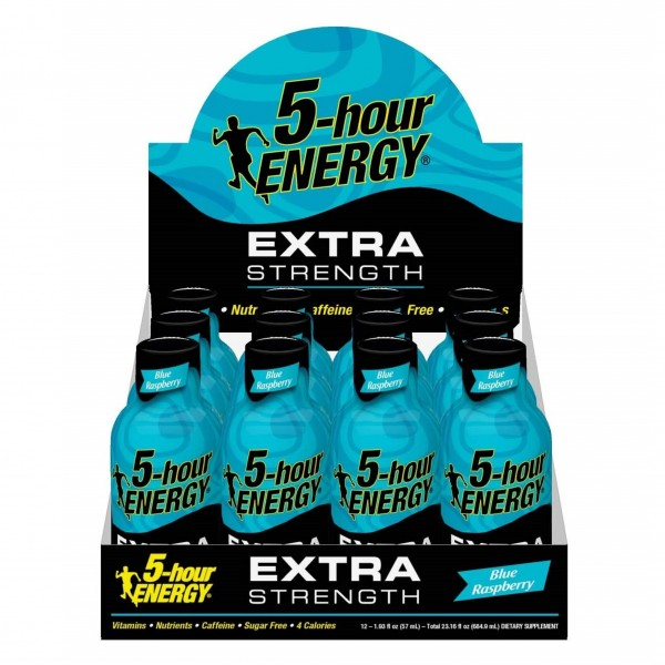 5-hour Energy Extra Strength Blue Raspberry 1.93 fl oz (Box of 12)