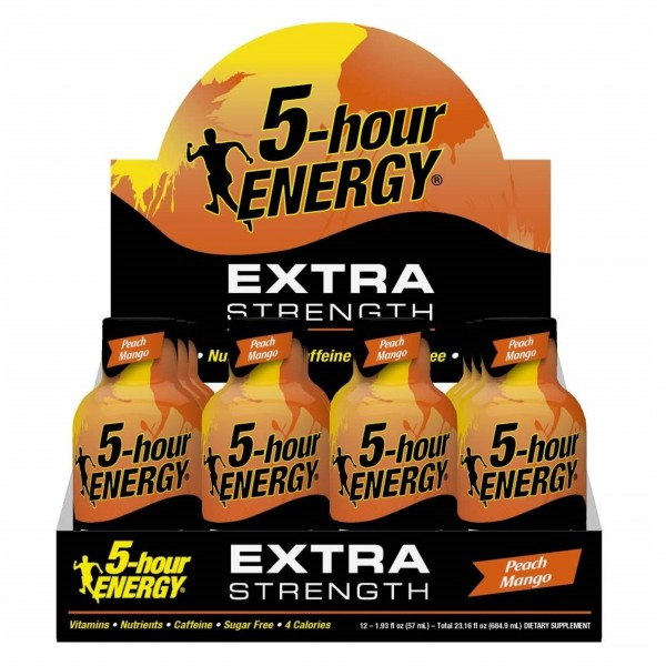 5-hour Energy Extra Strength Peach Mango 1.93 fl oz (Box of 12)