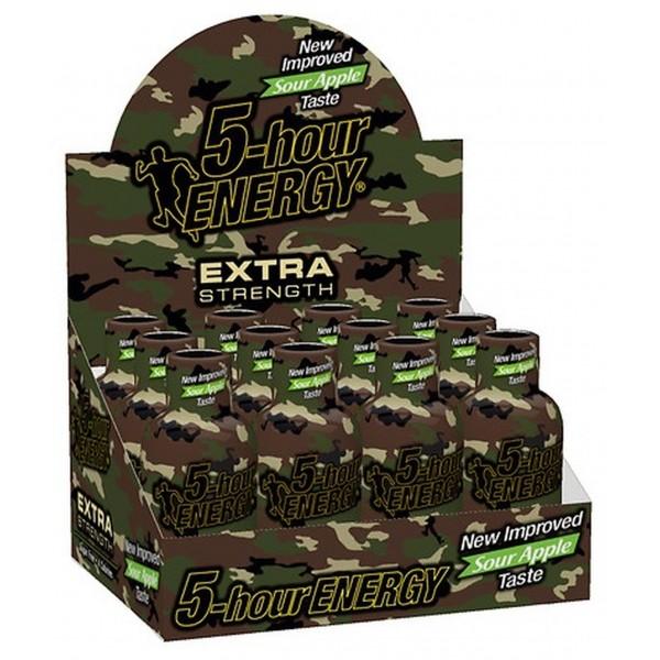 5-hour Energy Extra Strength Sour Apple 1.93 fl oz (Box of 12)