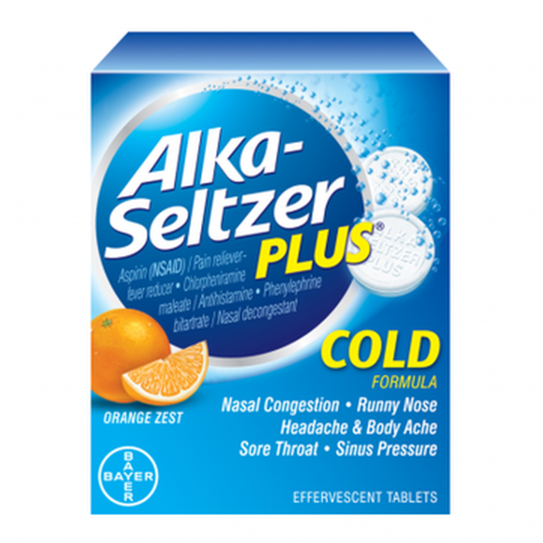 Alka-Seltzer Plus Cold Orange Zest