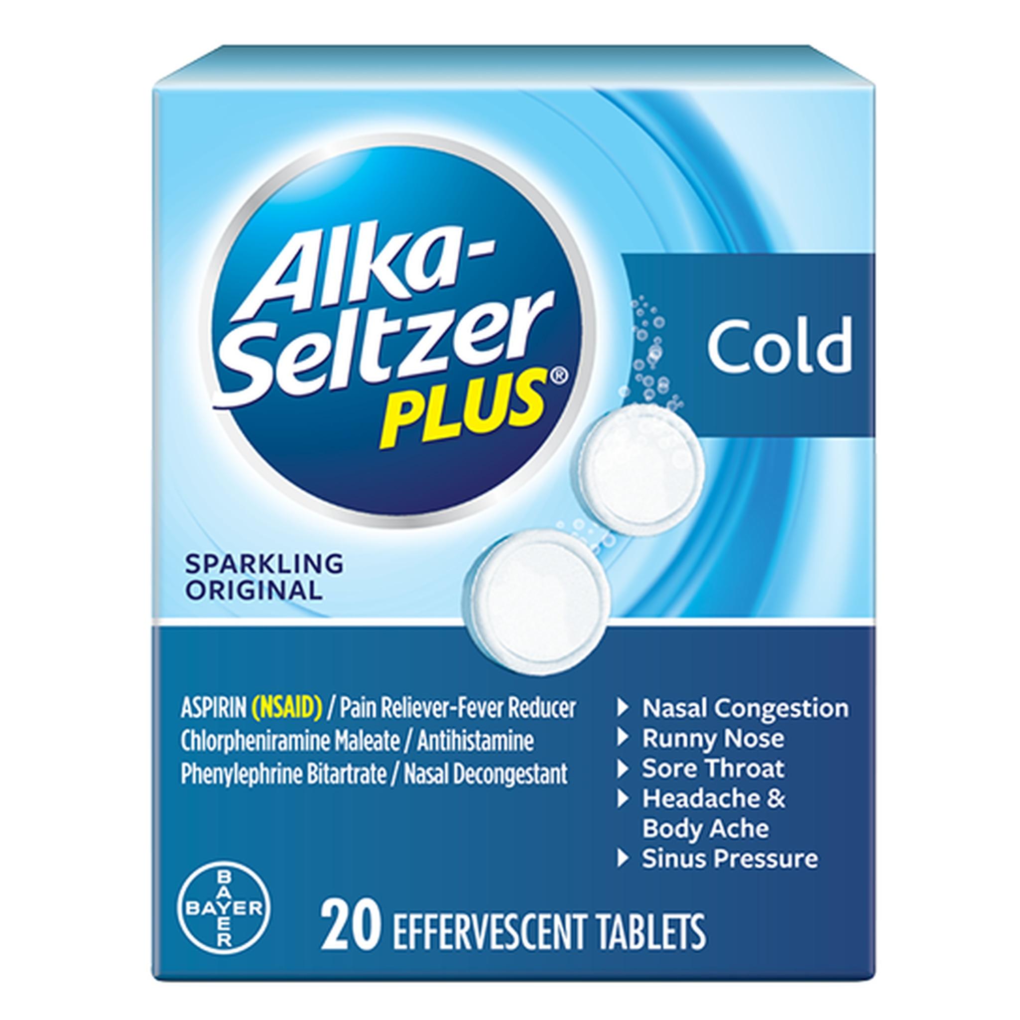 Alka-Seltzer Plus Cold Sparkling Original