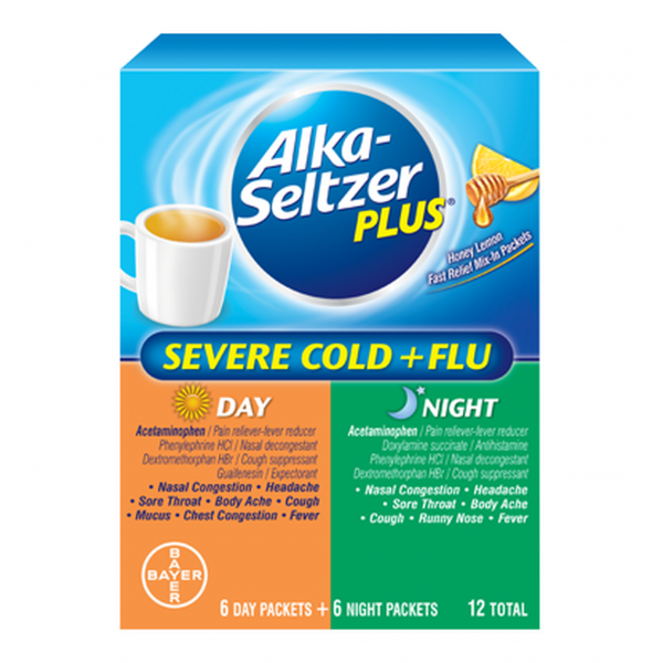 Alka-Seltzer Plus Day & Night Severe Cold + Flu
