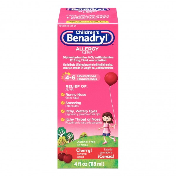 Children's Benadryl Allergy Cherry