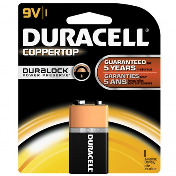 Duracell Coppertop 9V 1-Pack Battery (Box of 12)