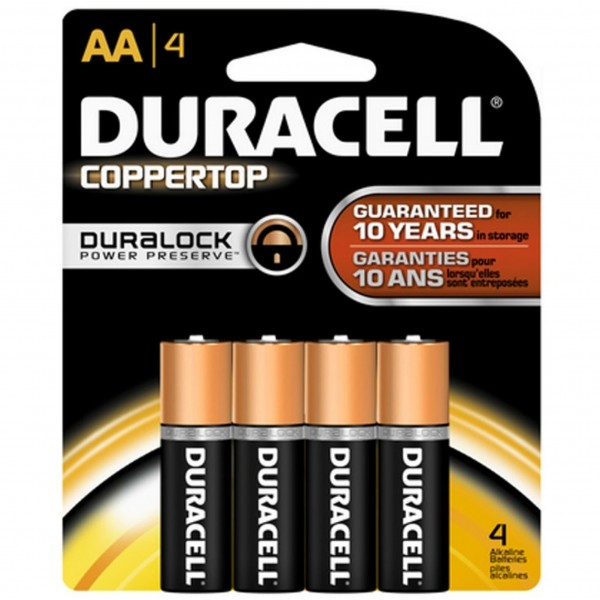 Duracell Coppertop AA 4-Pack Batteries (Box of 14)