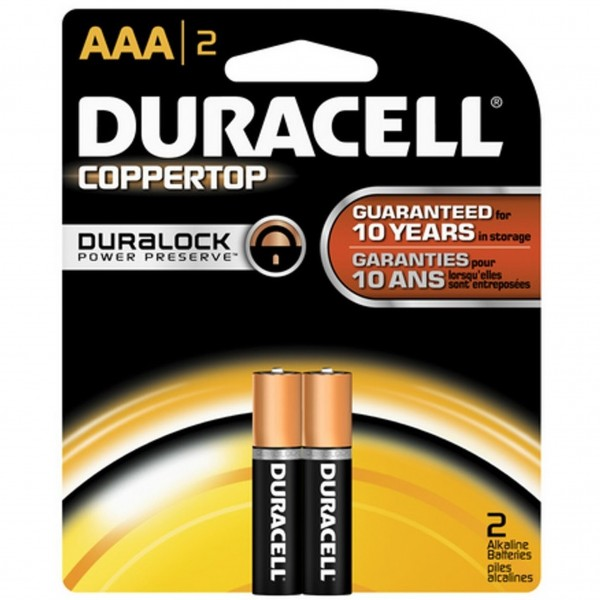 Duracell Coppertop AAA 2-Pack Batteries (Box of 18)