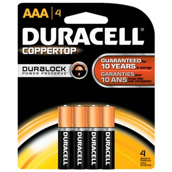 Duracell Coppertop AAA 4-Pack Batteries (Box of 18)