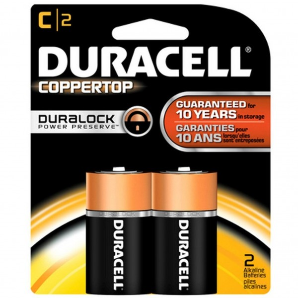 Duracell Coppertop C 2-Pack Batteries (Box of 8)