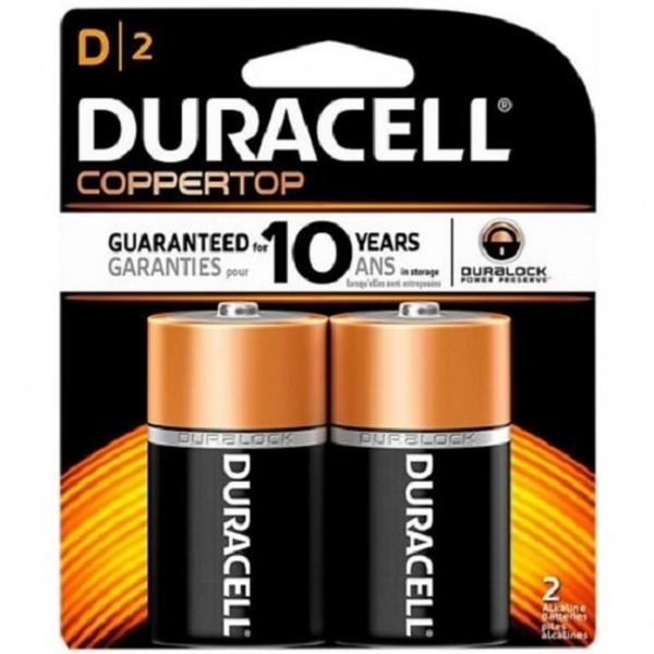 Duracell Coppertop D 2-Pack Batteries (Box of 6)