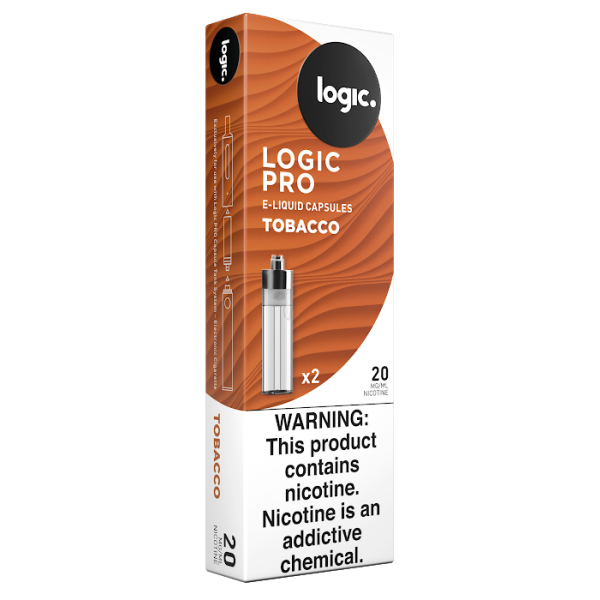 Logic PRO Capsules Tobacco 20 mg/ml 2-Ct (10/bx)