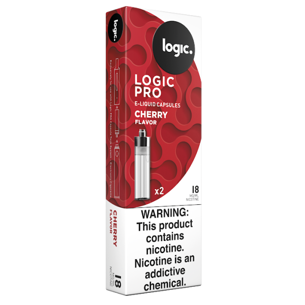 Logic PRO Cherry 18 mg/ml 2-Ct. (10/box)