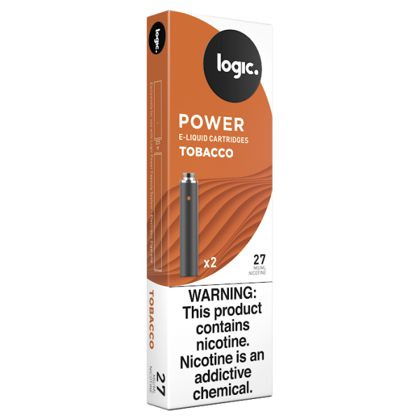 Logic Power Cartridge Tobacco 27 mg/ml 2-Ct (10/bx)