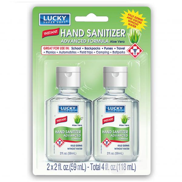 Lucky Instant Hand Sanitizer Aloe Vera 2 fl oz