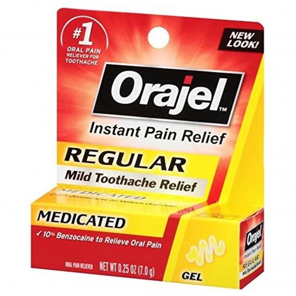 Orajel Regular Mild Toothache Relief Medicated Gel