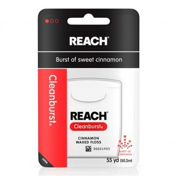 Reach Cinnamon Waxed Floss 55 yd (Pack of 6)