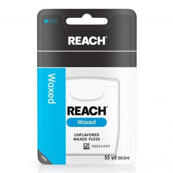 Reach Unflavored Waxed Floss 55 yd (Pack of 6)