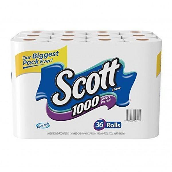 Scott Toilet Paper 1-Ply 1000-Sheet