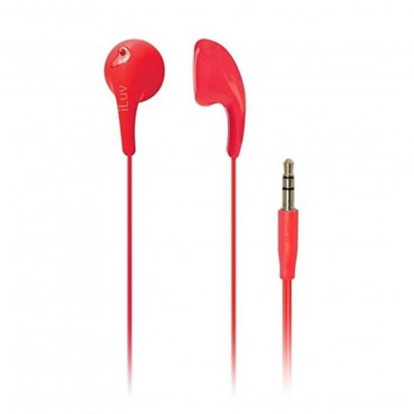 iLuv Bubble Gum 2 Earphones Red
