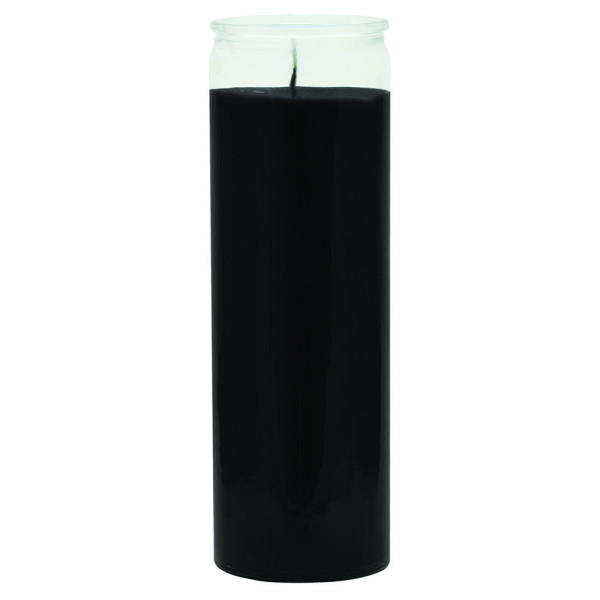 7 DAY BLACK GLASS CANDLE