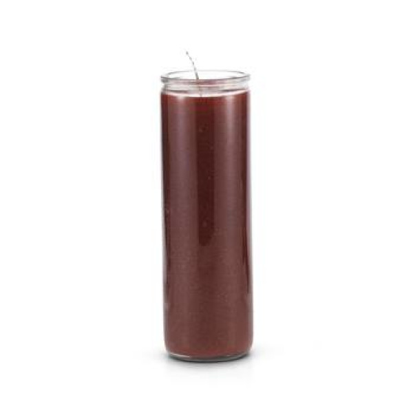 7 DAY BROWN GLASS CANDLE