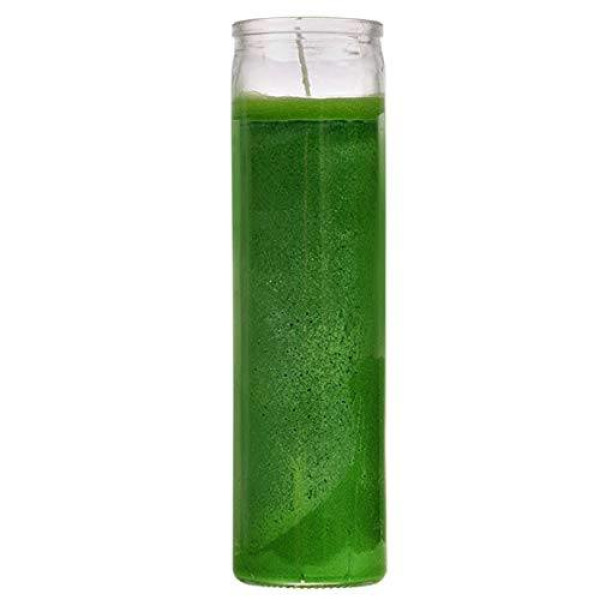7 DAY GREEN GLASS CANDLE