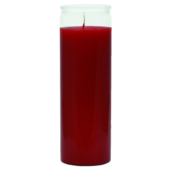 7 DAY RED GLASS CANDLE