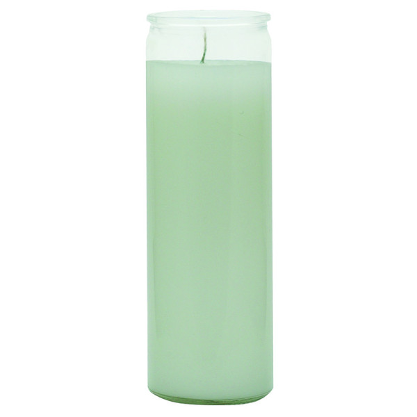 7 DAY WHITE GLASS CANDLE