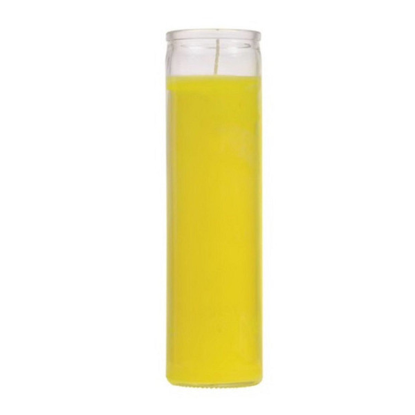 7 DAY YELLOW GLASS CANDLE