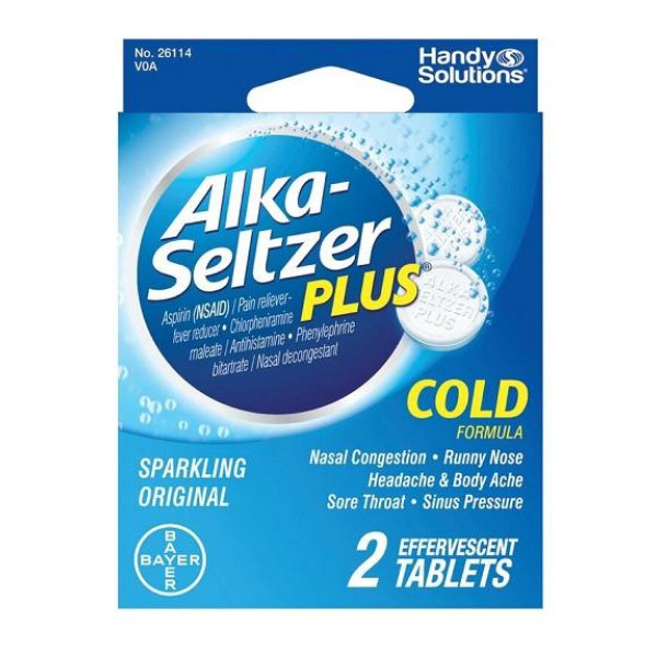 ALKA SELTZER PLUS COLD SINGLE PACK BLISTER