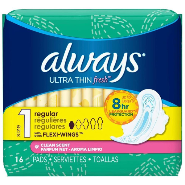 ALWAYS 16'S (#02923) FRESH ULTRA THIN REGULAR
