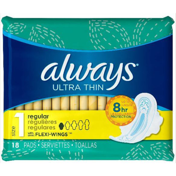 ALWAYS 18'S (#30655) ULTRA THIN REGULAR W/WINGS USA