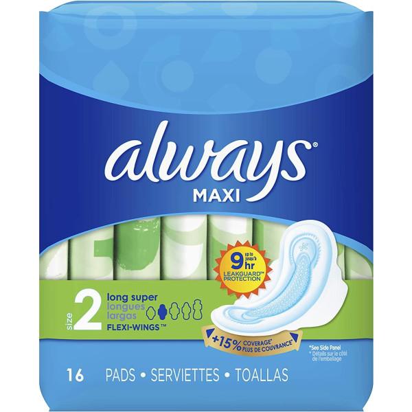 ALWAYS MAXI 16'S (#30562 / 08216) LONG SUPER W/WINGS