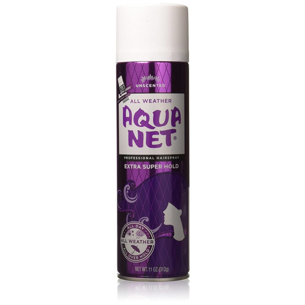 AQUANET HAIRSPRAY(PURPLE)SUPER HOLD #3 UNCENTED 11 OZ.