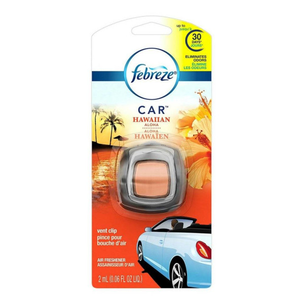 FEBREZE CAR VENT CLIP HAWAIIAN ALOHA .06OZ.