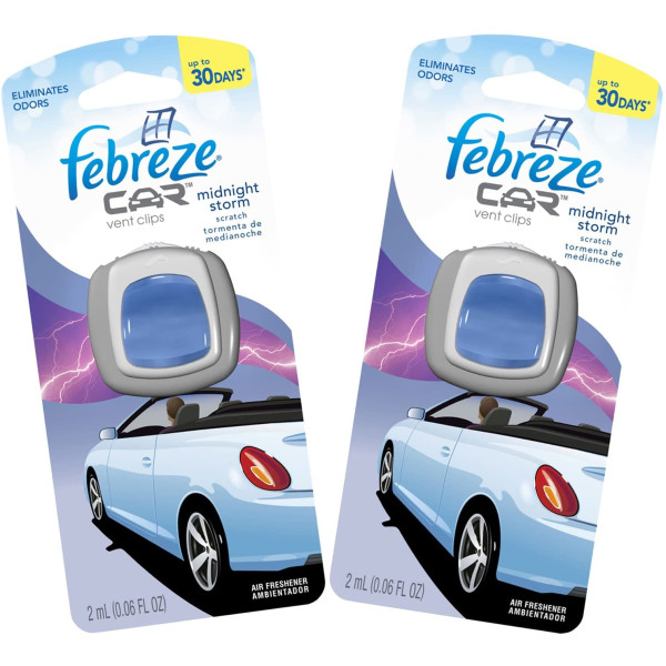 FEBREZE CAR VENT CLIP MIDNIGHT STORM .06OZ.