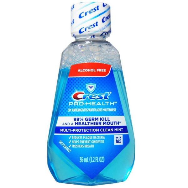 CREST PRO HEALTH MOUTHWASH CLEAN MINT 1.22OZ.