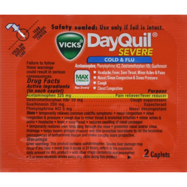 DAYQUIL (02027) MAX STRENGTH LOOSE 20CT.