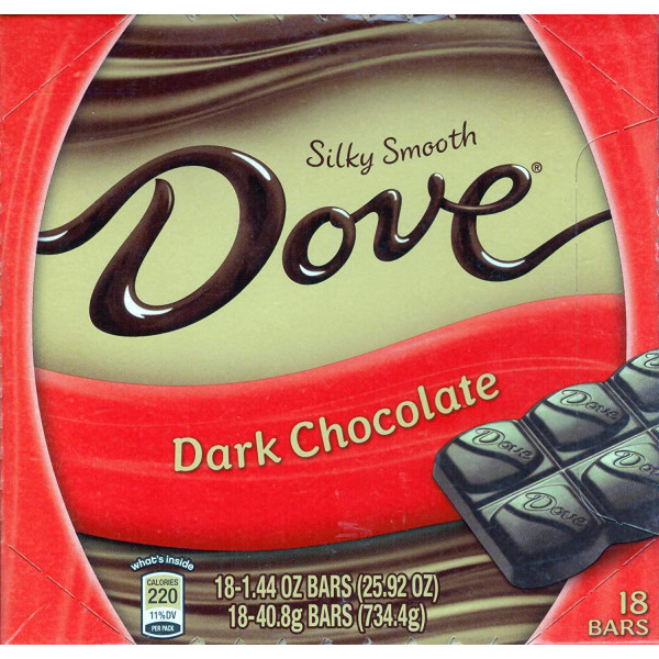 DOVE DARK CHOCOLATE BAR 18 CT.