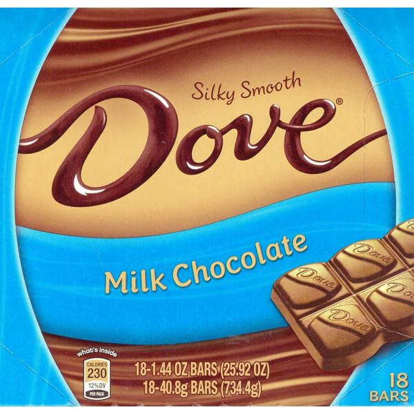 DOVE MILK CHOCOLATE BAR 18 CT.