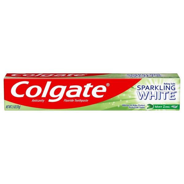 COLGATE 2.5OZ SPARKLING ZING WHITE MINT PASTE