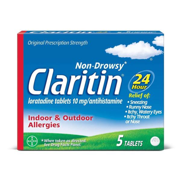 CLARITIN TABS 5CT. 24HR ALLERGY