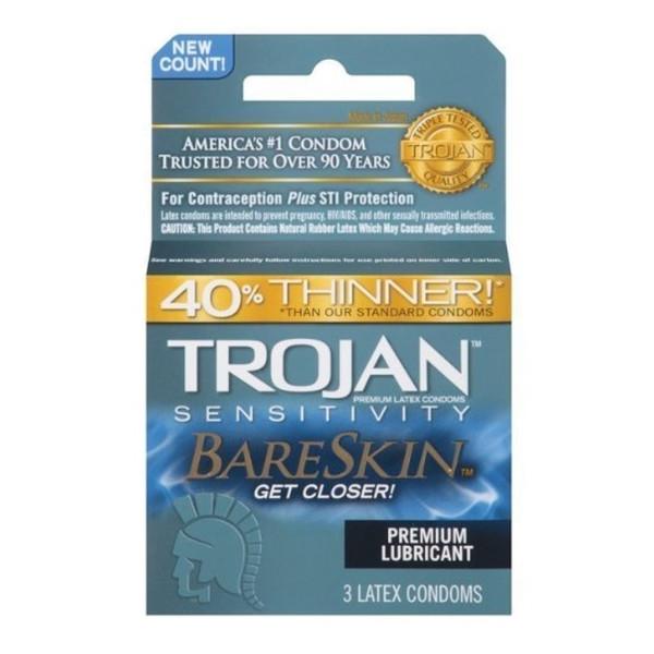 Trojan Bareskin Lubricated Condoms