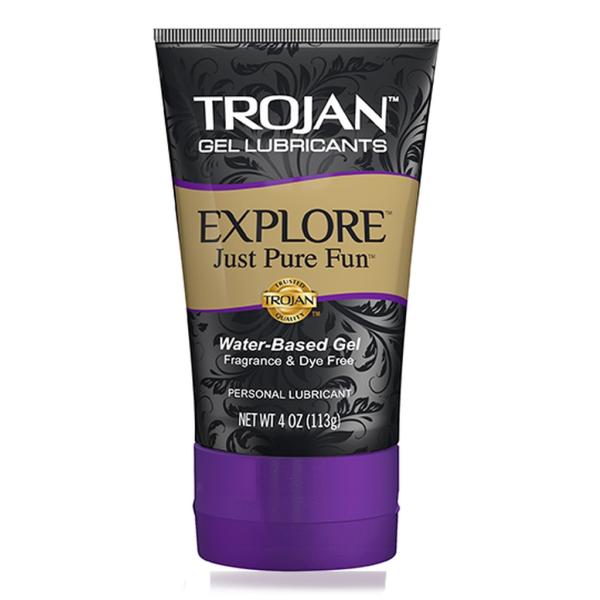 Trojan Explore Gel Lubricant 4 oz (Case of 24)