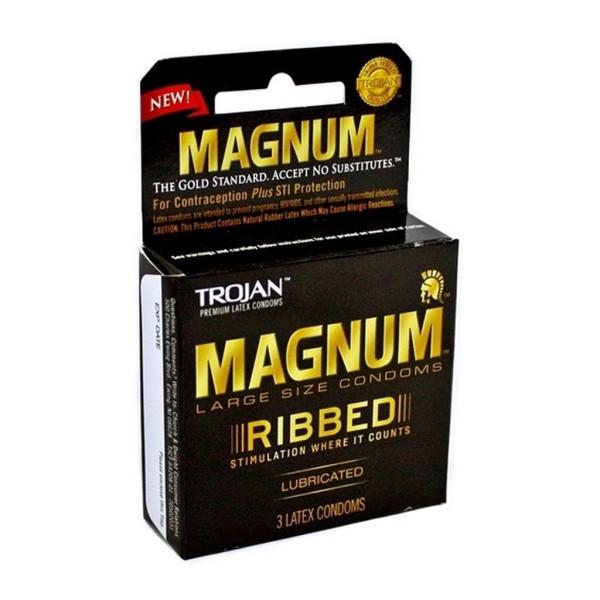 Trojan Magnum Ribbed Lubricated Condoms