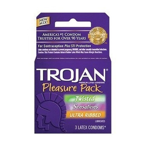 Trojan Pleasure Pack Lubricated Condoms