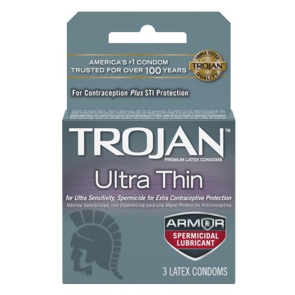 Trojan Ultra Thin Spermicidal Lubricated Condoms