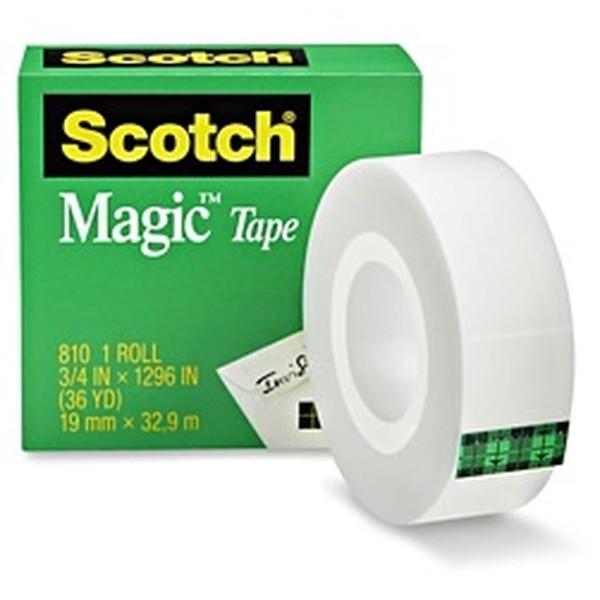 """3M Scotch 810 Magic Tape 3/4"""" x 1296"""" (Pack of 12)"""