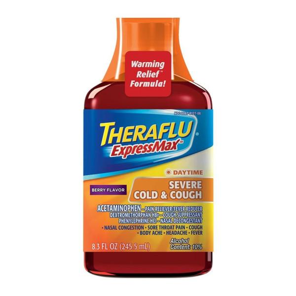 Theraflu ExpressMax Daytime Severe Cold & Cough Syrup 8.3 fl oz