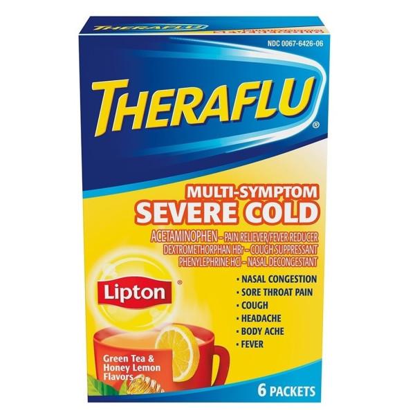 Theraflu Multi-Symptom Severe Cold with Lipton