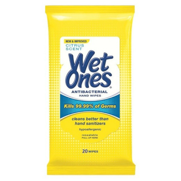 Wet Ones Antibacterial Hand Wipes Travel Pack